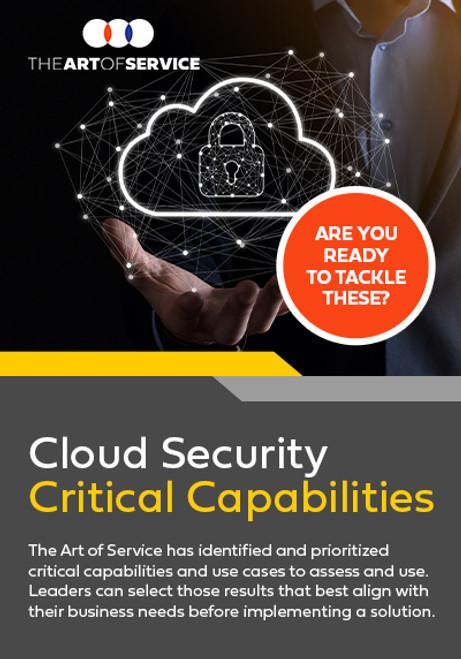 Cloud Security Critical Capabilities