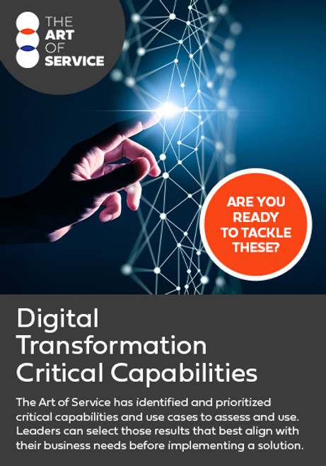 Digital Transformation Critical Capabilities