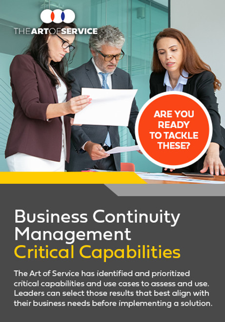 Business Continuity Management Critical Capabilities