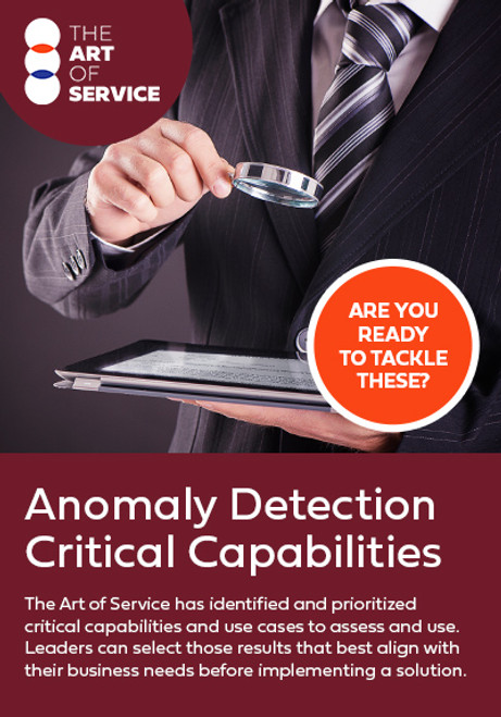Anomaly Detection Critical Capabilities