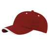 Burgundy/Stone Cotton Twill Cap with Contrast Lip Peak