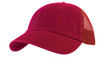 Red Cotton Twill Mesh Cap