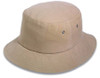 Khaki Cotton Mesh Bucket Hat