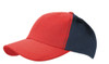 Red/Navy Cotton Two Tone Cap