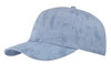 Sky Blue Cotton Crackle Washed Cap