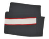 Black/White/Red Scarf with Sandwich Stripe