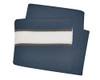Navy/White/Charcoal Scarf with Sandwich Stripe