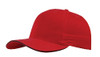 Red/Black Fine Brushed Cotton Cap