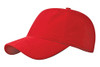 Red Washed Nylon Cotton Twill Cap