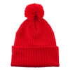 Red AC1070 Acrylic Toque with Pom | Toque.ca