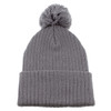 Silver AC1070 Acrylic Toque with Pom | Toque.ca