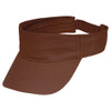 Chocolate OC6100 Organic Cotton Visor | Toque.ca