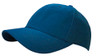 Navy Brushed Cotton Stretchable Fitted Cap