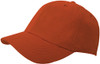 Orange Brushed Cotton Stretchable Fitted Cap