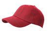 Red Brushed Cotton Stretchable Fitted Cap