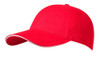 Red/White Brushed Cotton Stretchable Fitted Cap