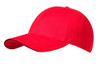 Red/Black Brushed Cotton Stretchable Fitted Cap