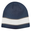 Navy/White/Charcoal AC2600 Acrylic Knit Toque with Sandwich Stripe | Toque.ca