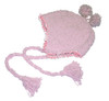 Pink Curly Yarn Earflap Toque