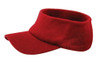 Red Cotton Acrylic Knit Open Visor