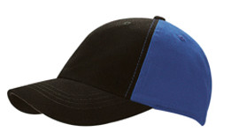 Black/Royal Cotton Two Tone Cap