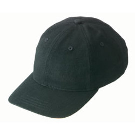 Black Microsanded Cotton Structured Cap