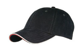 Black/Stone/Red Micro-Suede Cap