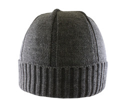Charcoal - AC2680 Acrylic Fully-Fashioned Toque with Cuff and New Premium Fleece Band | Toque.ca