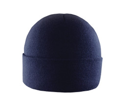 Navy - AC1014 Acrylic Toque with cuff and with wicking full fleece lining | Toque.ca
