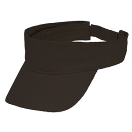 Black OC6100 Organic Cotton Visor | Toque.ca
