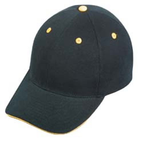 Black/Gold Heavy Weight Brushed Cotton Cap