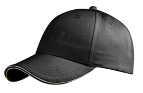Black Double Reflective Sandwich Cap
