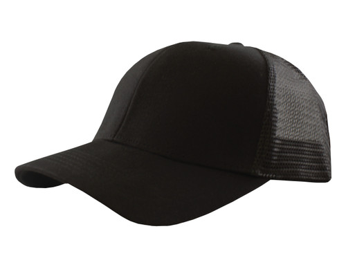 Black - CM6010 Two Tone Cotton Mesh Trucker Cap | Toque.ca