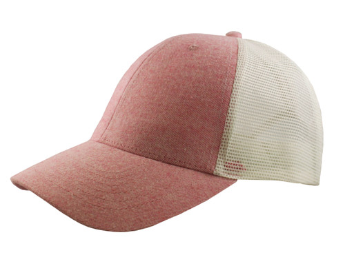 Heather Pink - CM6040 Heather Colour Twill with Mesh Back Cap | Toque.ca