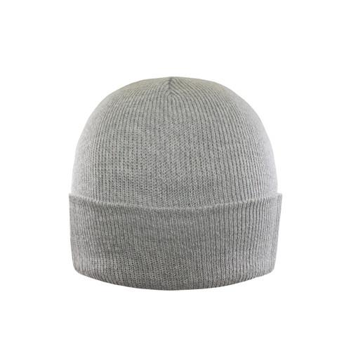Grey Melange - AC1013 Acrylic Bi-Colors Yarn Twisted Toque With Cuff | Toque.ca