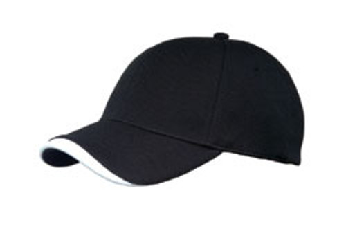 Black/White Poly Dobby Mesh Stretchable Fitted Cap