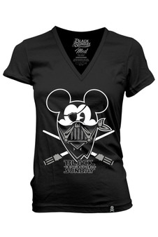 Happy Mask Womens V-Neck Tee