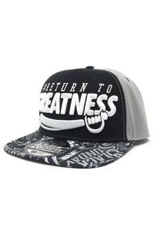 Greatness Snap Back Hat - Black/Grey