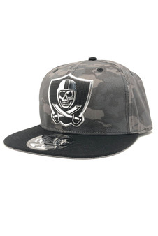 Vision Chrome Snap Back Hat - Dirty Grey Camo