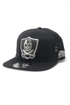 Liquid Chrome Mesh Snap Back Hat - Black