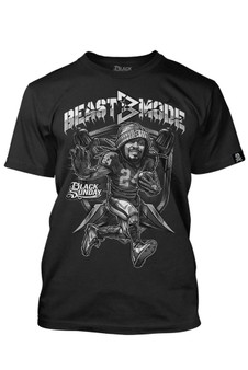 Beast Mode Lynch Men's Tee - Black