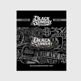 Black Sunday Logo Pin
