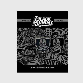 Black Sunday Icon Pin