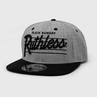 Ruthless Chain Snap Back Hat - Grey Heather