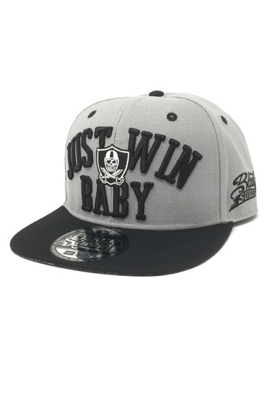 Just Win Snap Back Hat - All Grey