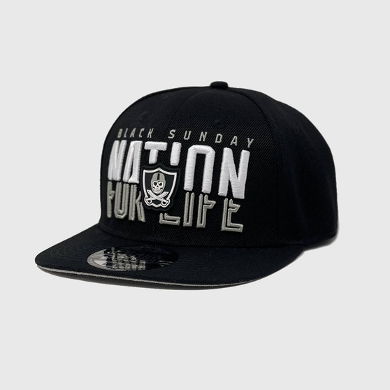 Slice Snap Back Hat - BLACK
