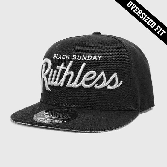 """Ruthless """"Oversized Fit"""" Snap Back Hat - Black"""