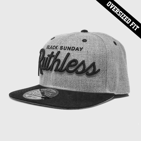 """Ruthless """"Oversized Fit"""" Snap Back Hat - Grey"""