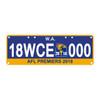 West Coast Eagles 2018 Premiership License Plate