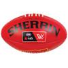 West Coast Eagles Sherrin AFLW Replica Training Ball Red
